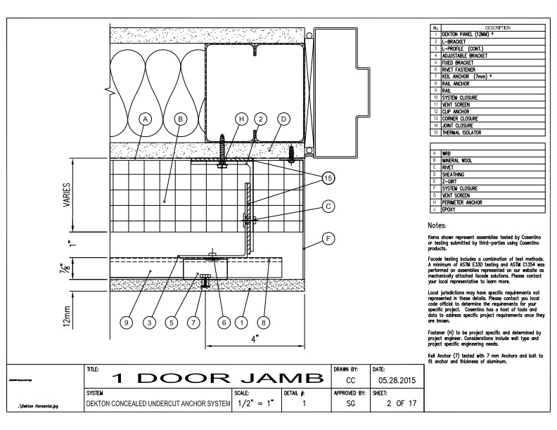 DEKTON Detail 01 Door Jamb EN