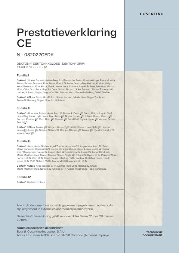 Dekton Conformiteitsverklaring CE (NL)