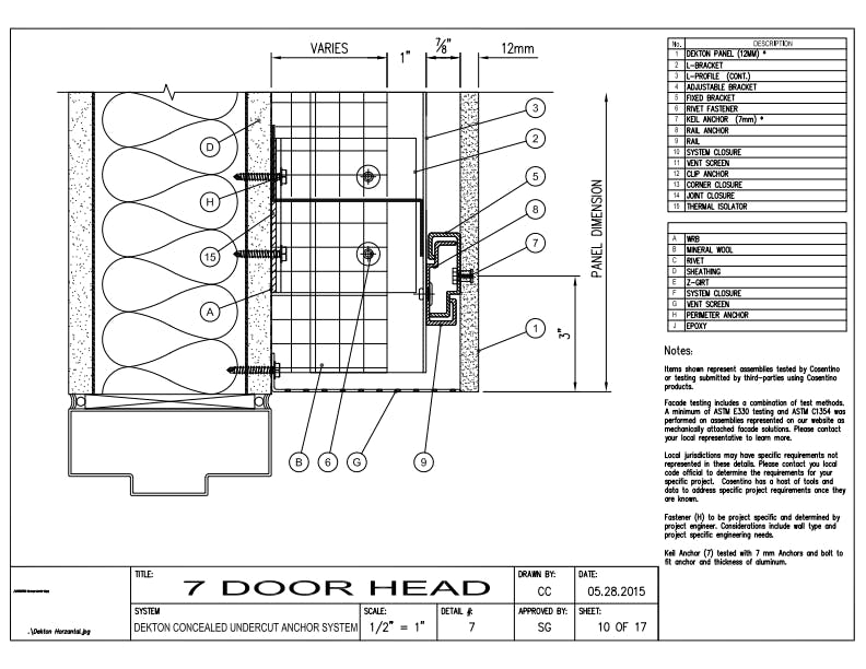 DEKTON Detail 07  Door Head EN