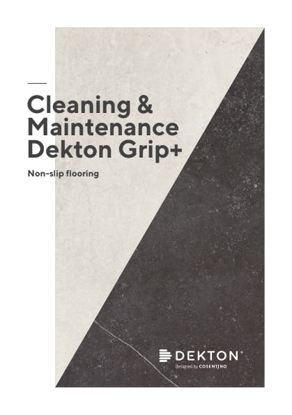 Cleaning & maintenance Dekton Grip+ ENG