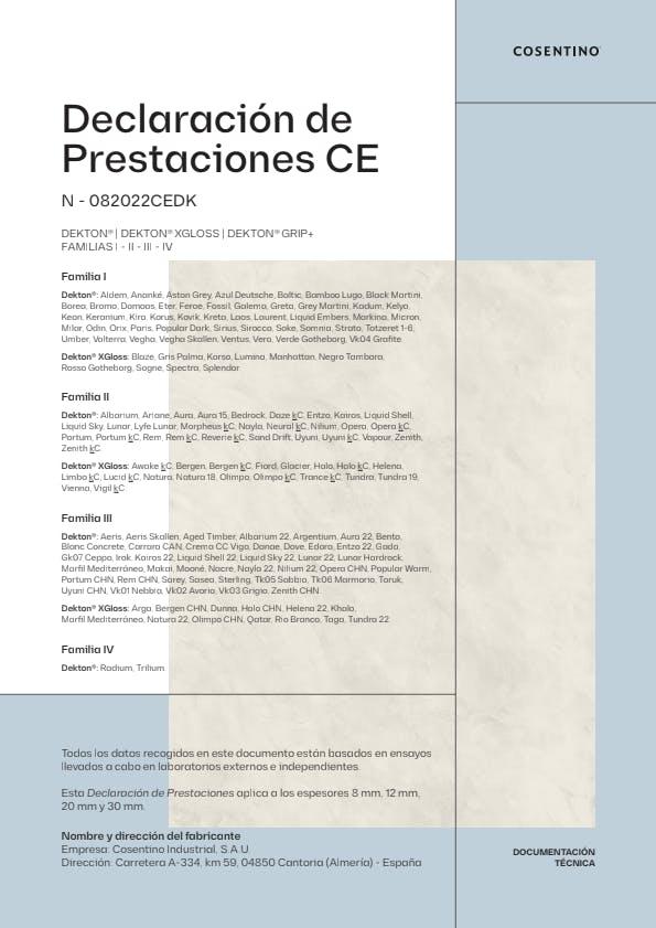 Dekton Declaración de Conformidad CE (ES)