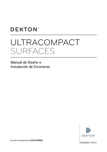 Manual Diseño e Instalación Encimeras Dekton ES
