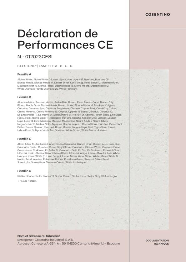 Silestone Declarations de Conformite CE (FR)