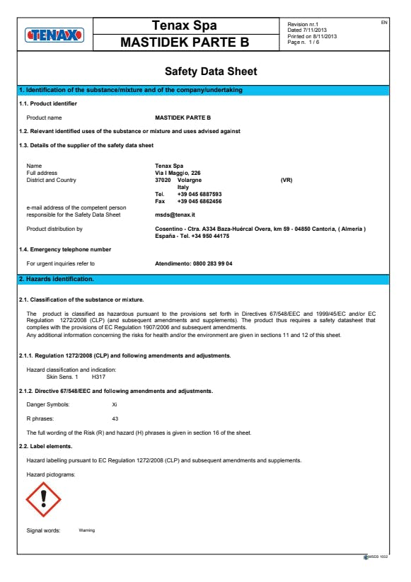 mastidek-part-b-safety-datasheet-EN