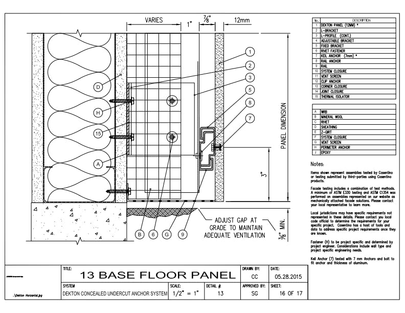 DEKTON Detail 13  Base Floor Panel EN