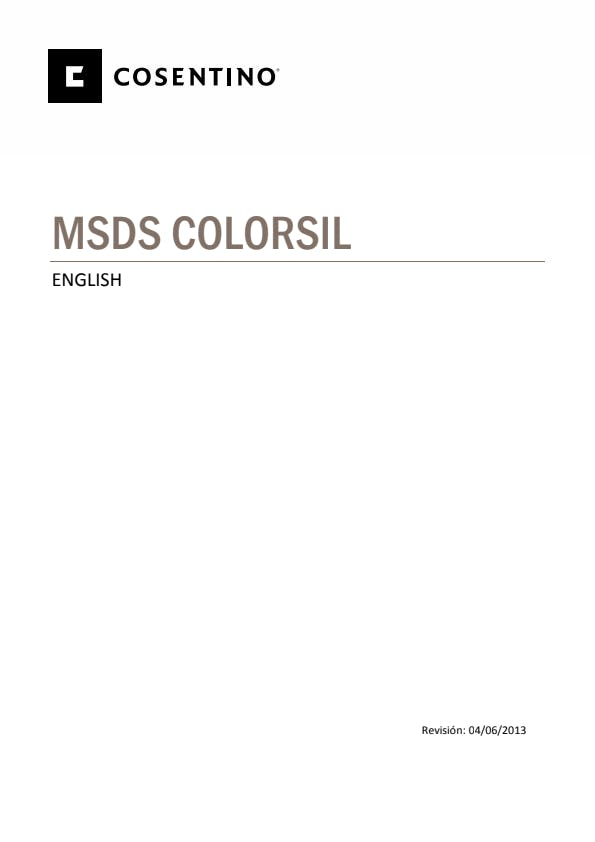 Security Datasheets COLORSIL -ING- 2013