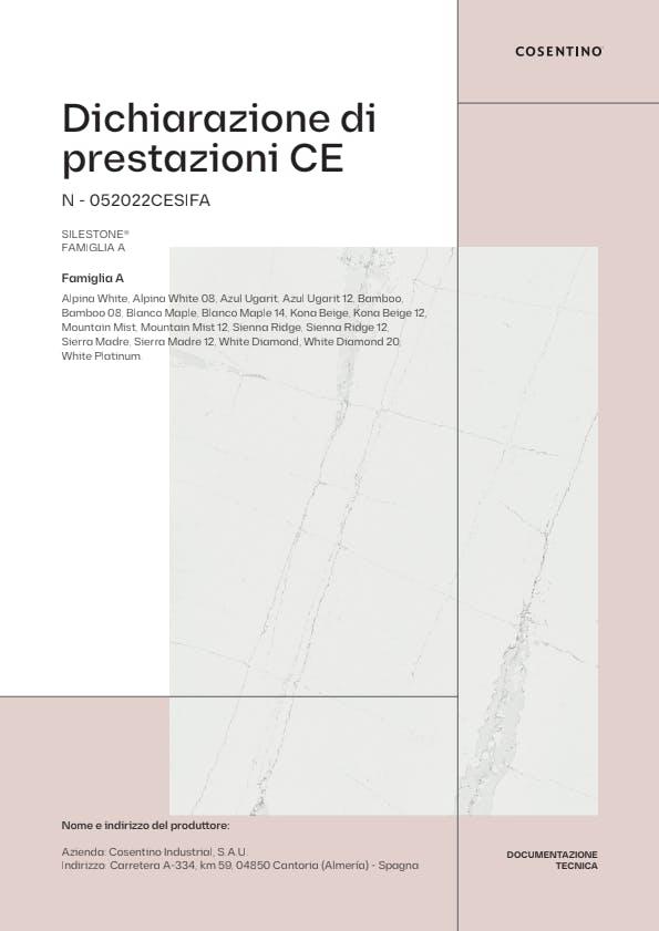 Silestone Dichiarazione di Conformità CE