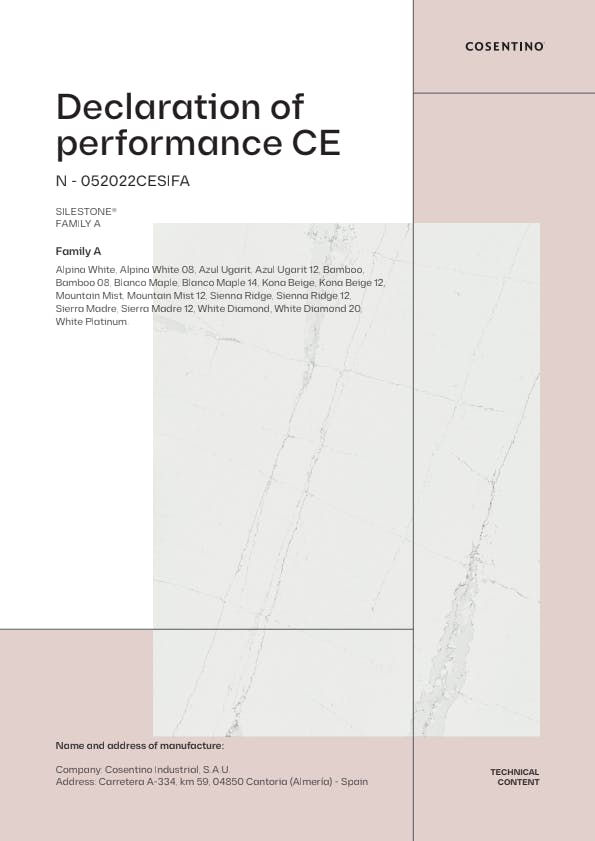 Silestone Declarations of Conformity CE (EN)