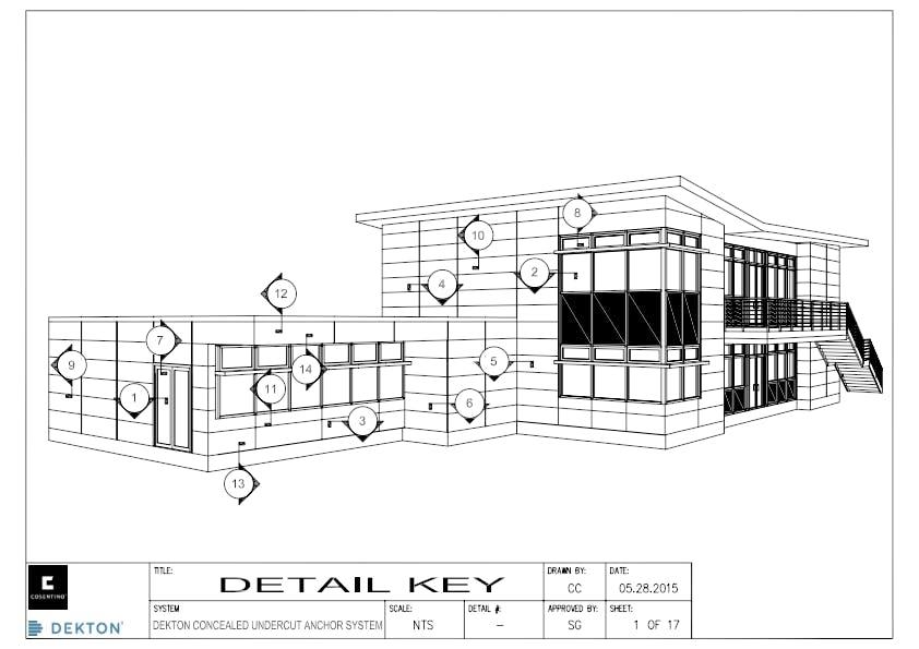 DEKTON Detail concealed undercut anchor system EN