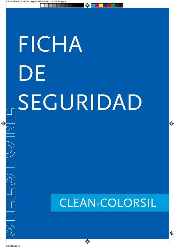 Ficha de seguridad clean-colorsil