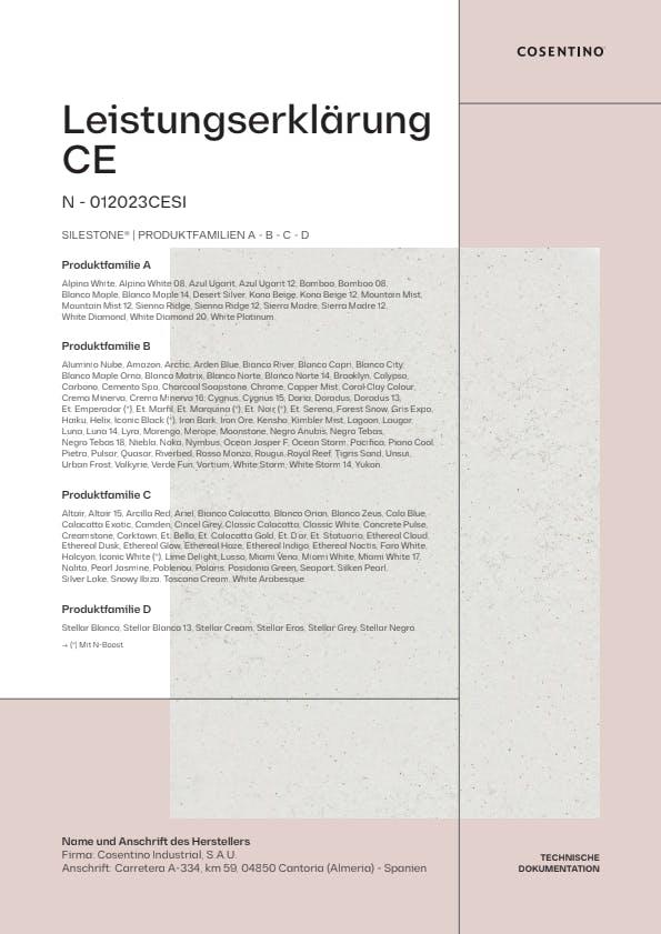 Silestone Konformitätserklärung CE (DE)