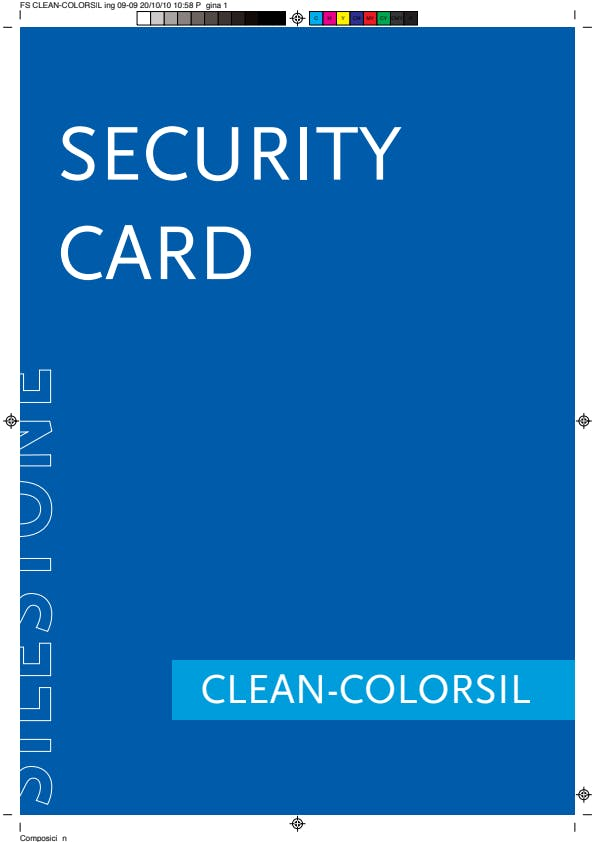 Silestone Colorsil Security Card