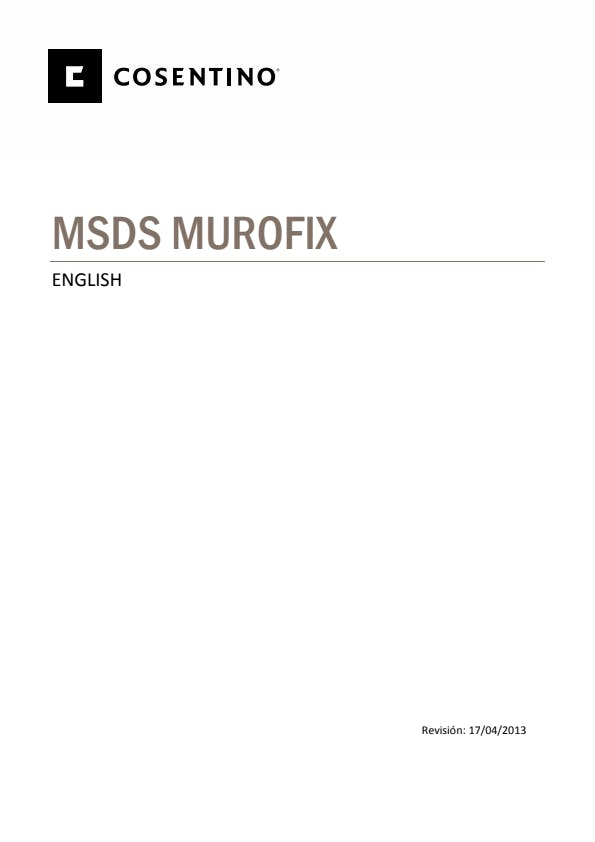 Security Datasheets MUROFIX-ING- 2013