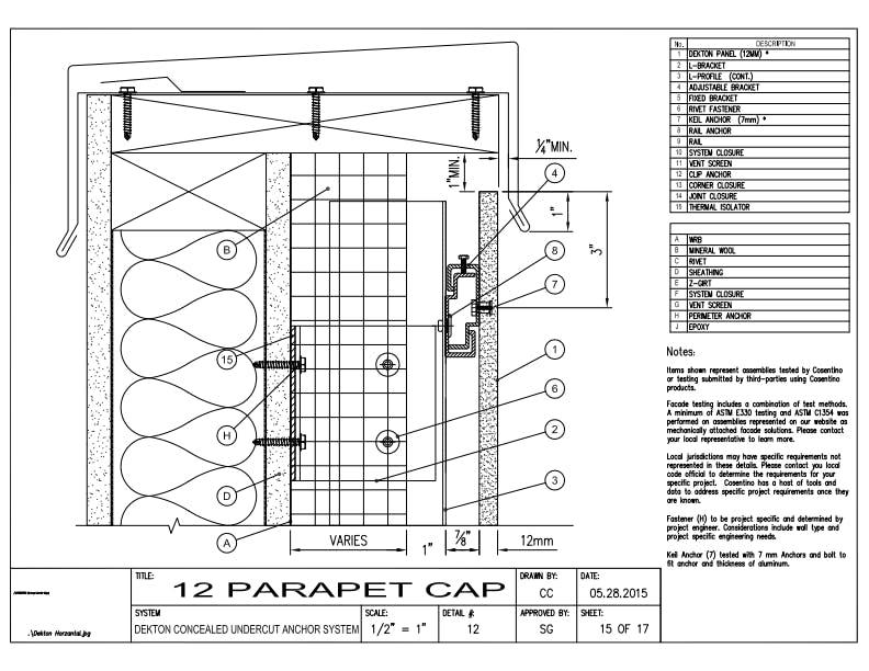 DEKTON Detail 12 Parapet Cap EN