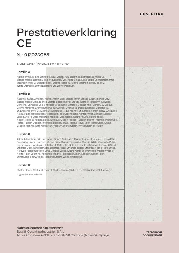 Silestone Conformiteitsverklaring CE (NL)