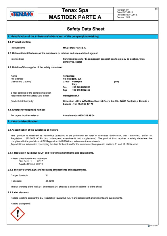 mastidek-part-a-safety-datasheet-EN