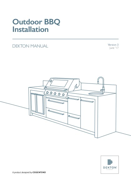 DEKTON -  Outdoor BBQ Installation Manual