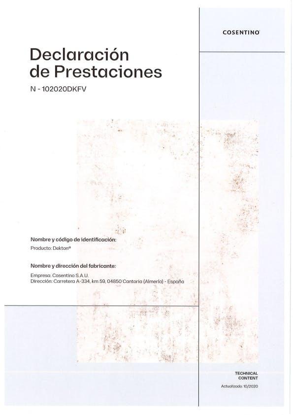 Dekton Declaración de Prestaciones Fachadas Ventiladas (ES)