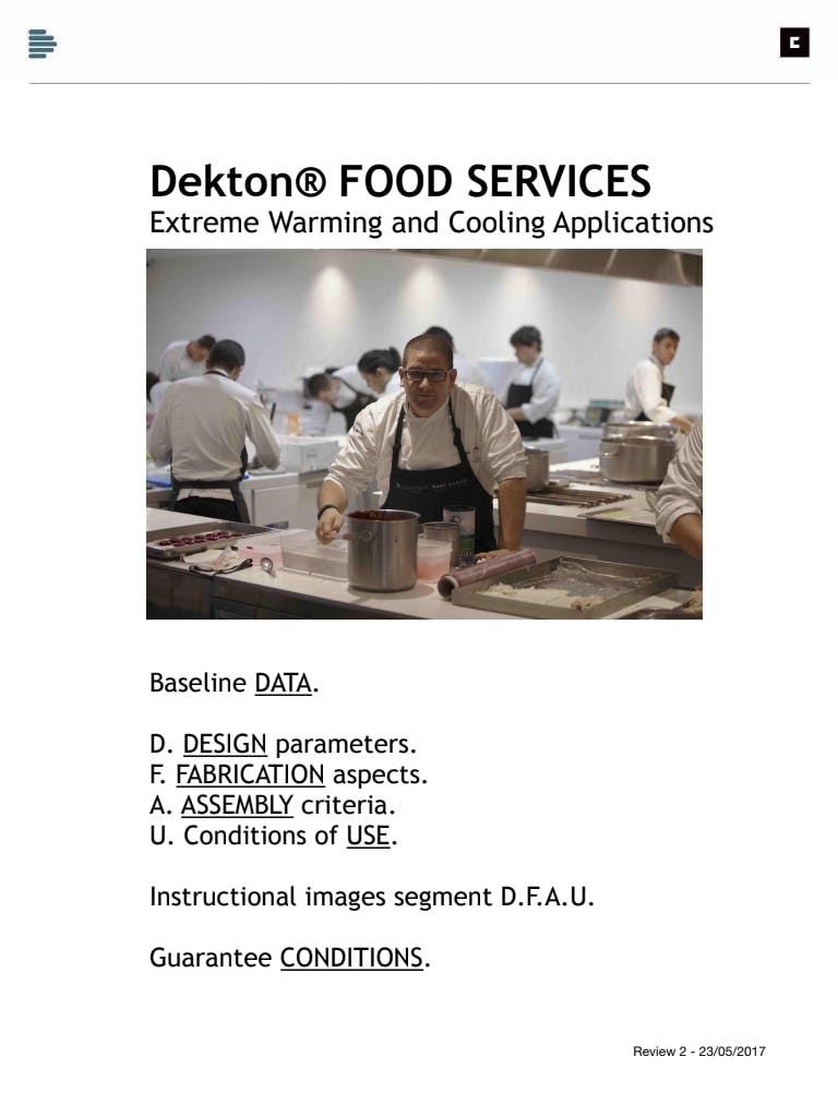 [DK] Food Services Manual (EN)