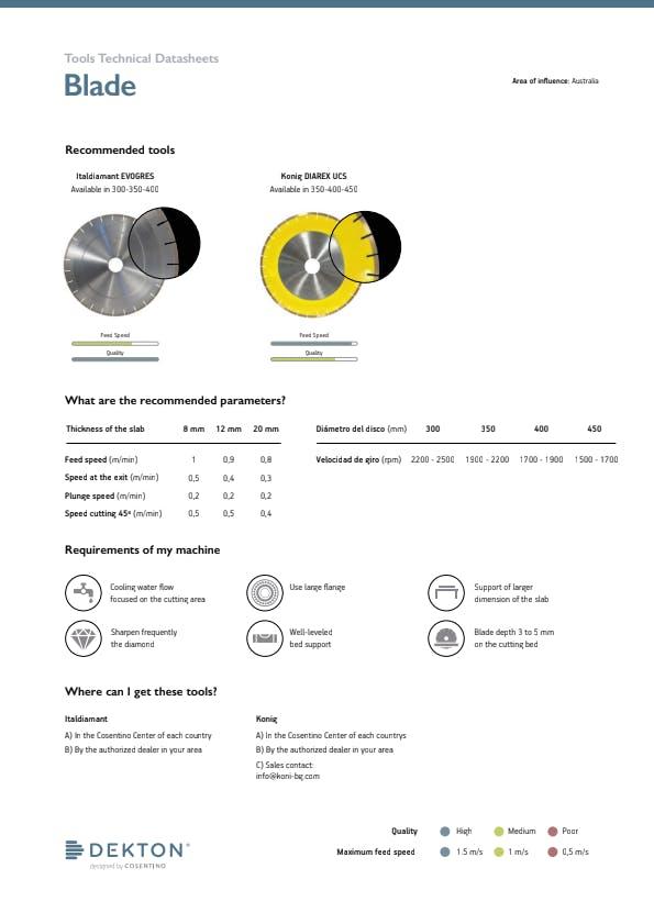 DEKTON Tools Technical Datasheets AUSTRALIA-ENG.ai