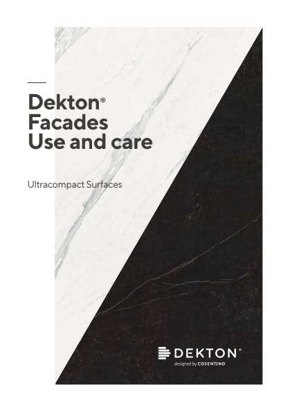 Use and Care Dekton Fachadas- EN