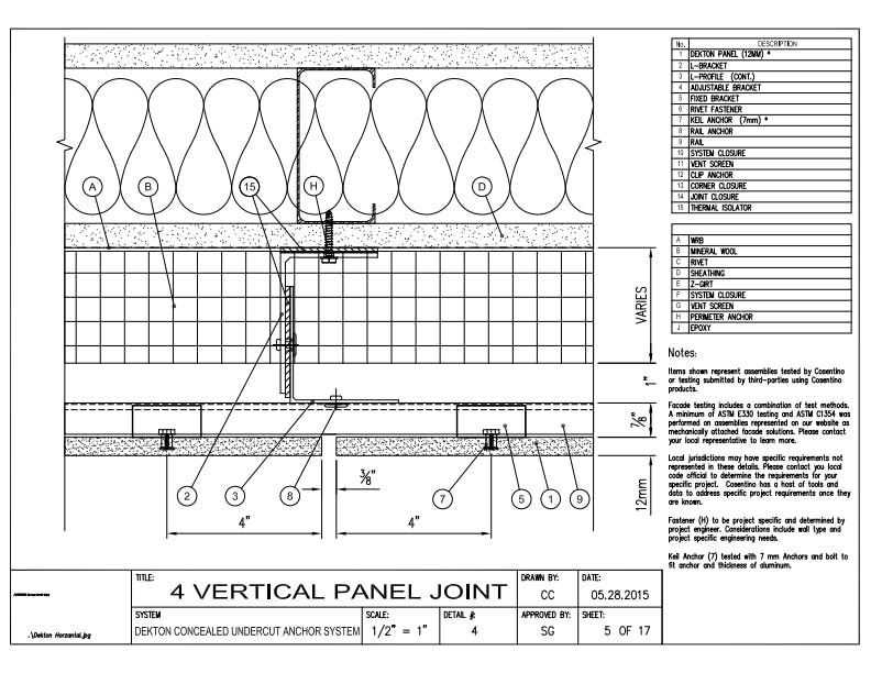 DEKTON Detail 04  Vertical Panel Joint EN