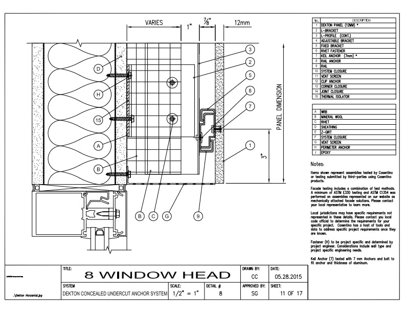 DEKTON Detail 08 Window Head EN