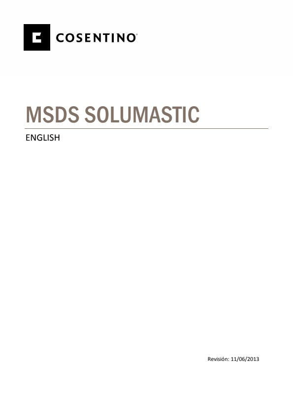 Security Datasheets SOLUMASTIC-ING-2013