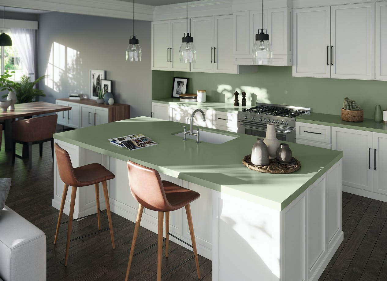 Silestone Kitchen - Posidonia Green