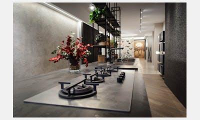 Exposición de cocina modelo K016 de PEDINI