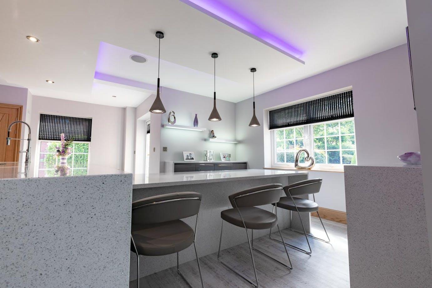 Grey Gloss Modern Kitchen In Sheffield Cosentino