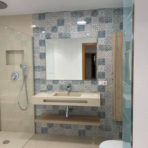 Bathroom Empleando Silestone