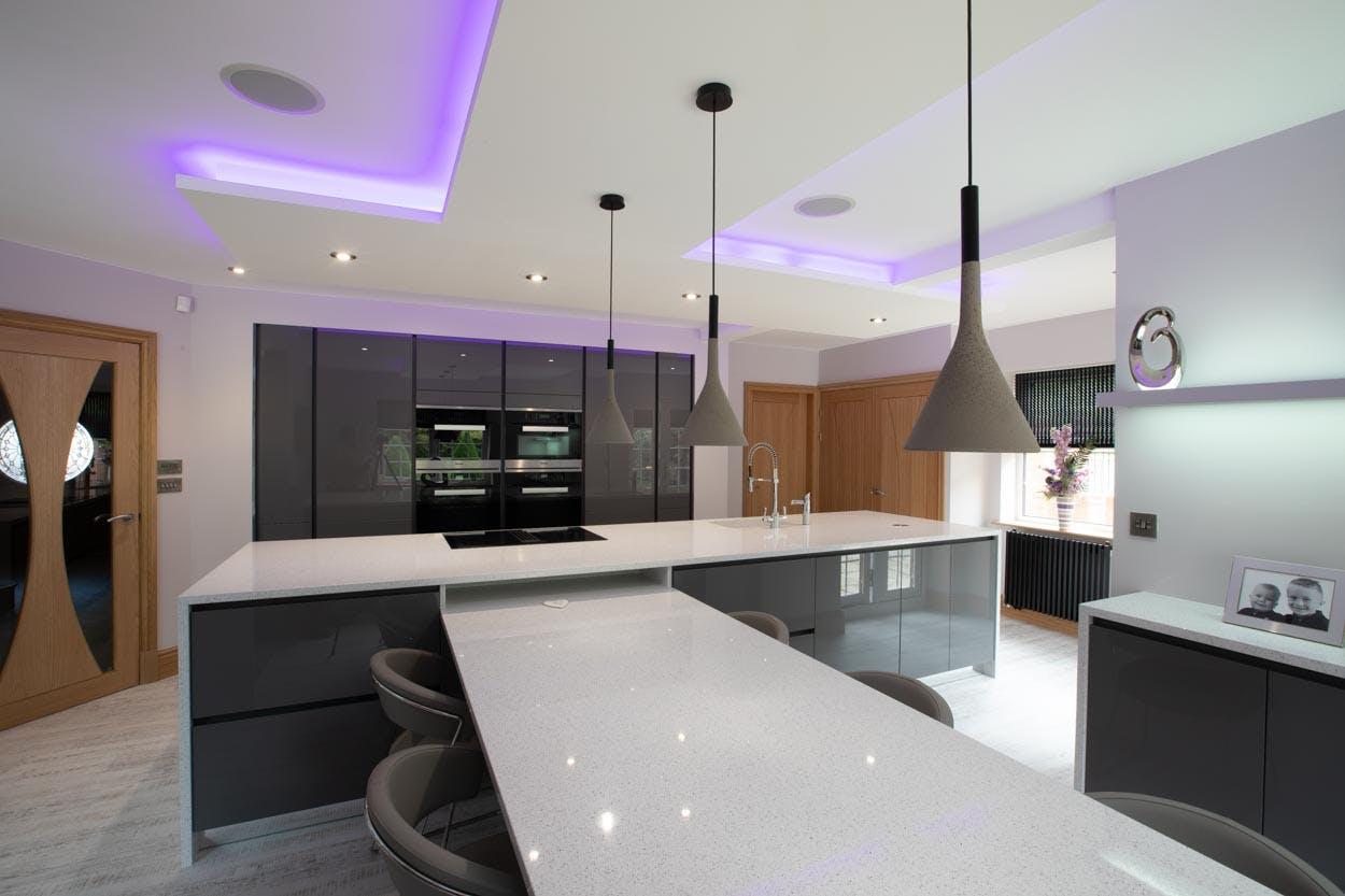 Silestone   Grey Gloss Modern Kitchen In Sheffield.   By Cosentino ...