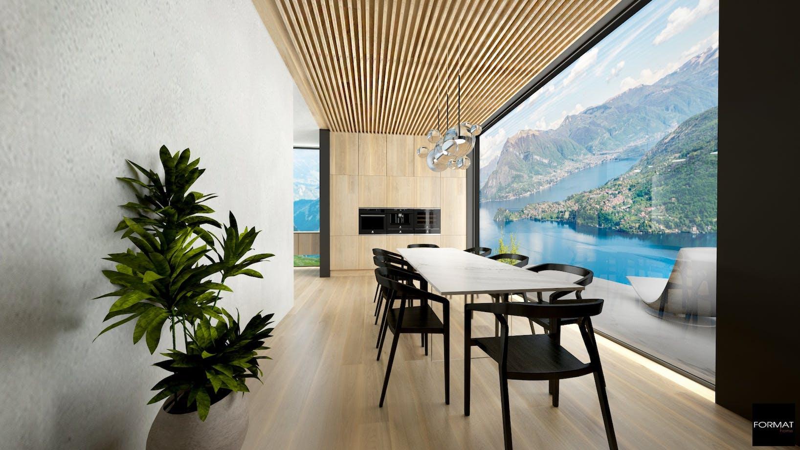 Projekt domu nad jeziorem Como.