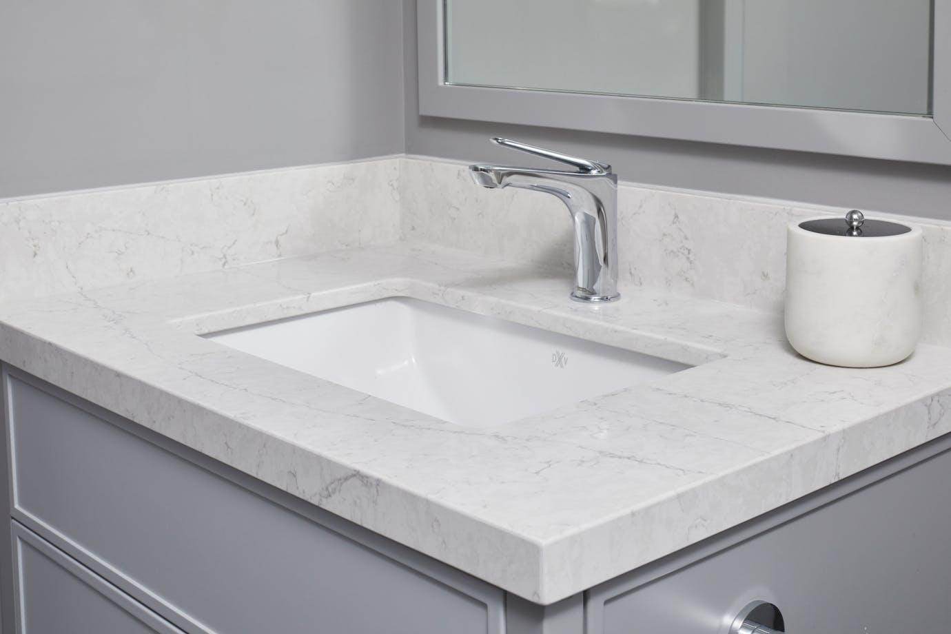 Pearl Jasmine Silestone Bathroom