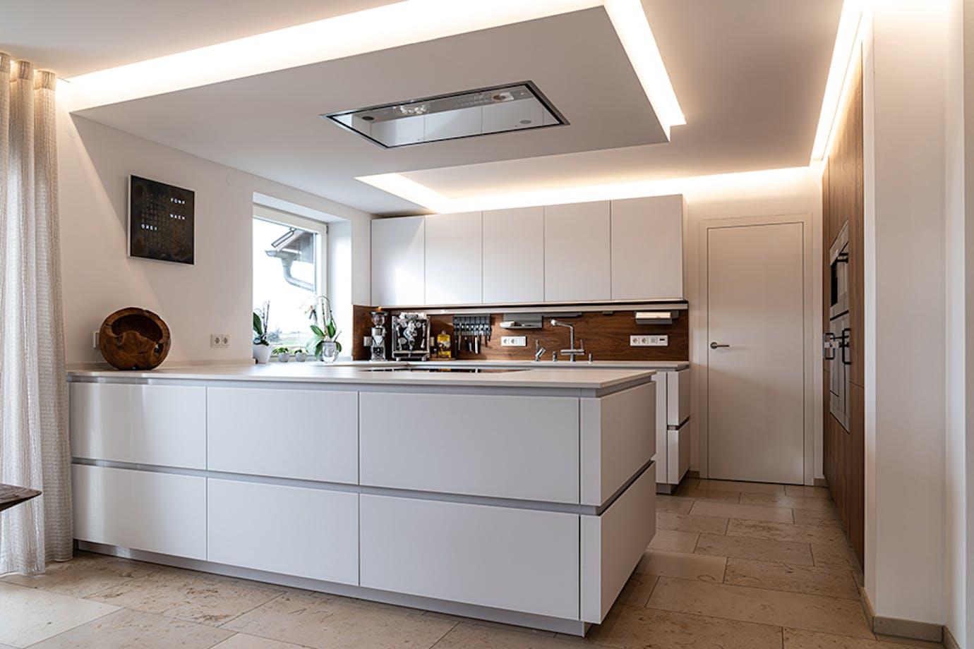 Küche mit Altholzakzente
