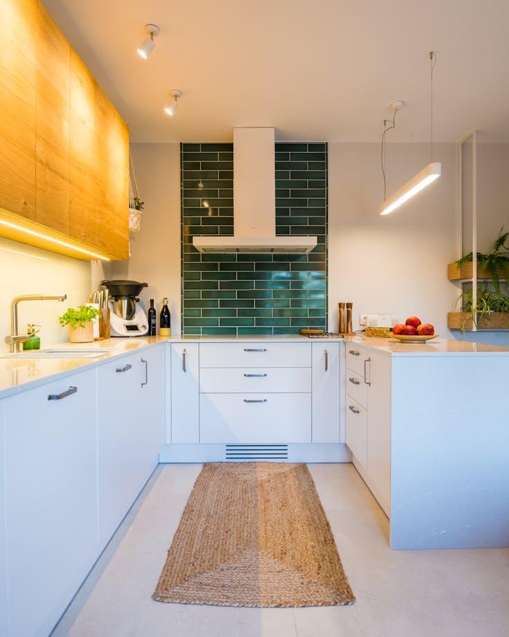 Kuchnia z akcentem zieleni