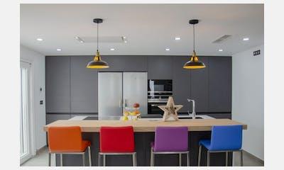 Concepto abierto: salón, cocina y comedor