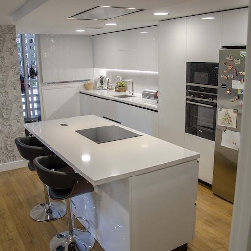 Una cocina amplia y familiar
