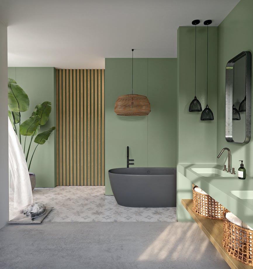 Silestone Bathroom - Posidonia Green