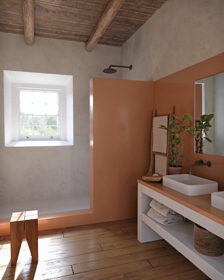 Silestone Bathroom - Arcilla Red