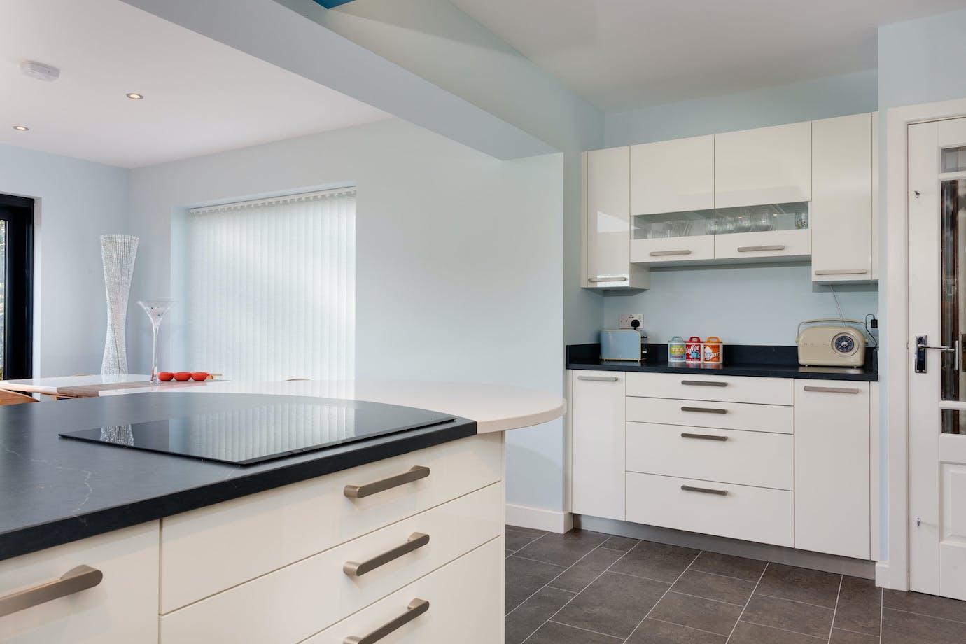 Schuller kitchen in white gloss