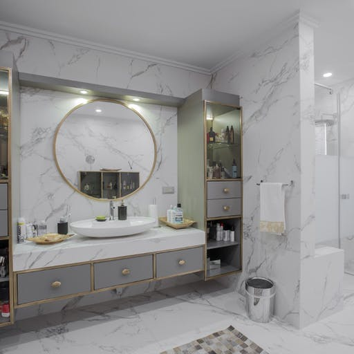 Dekton Aura'15 Bathroom Bayraktar Villa