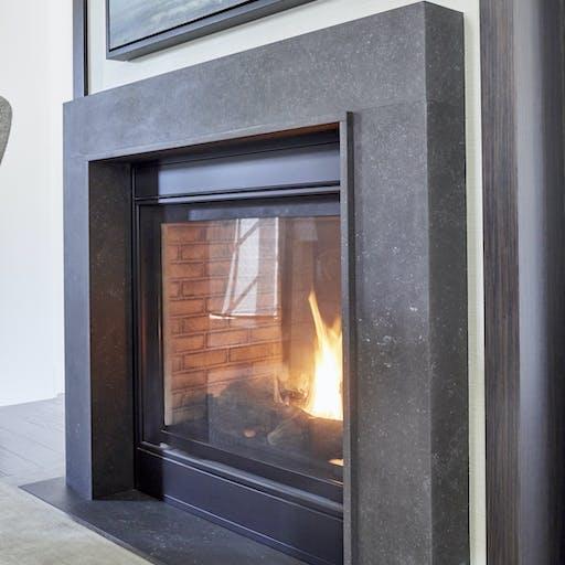 Fossil Dekton Fireplace