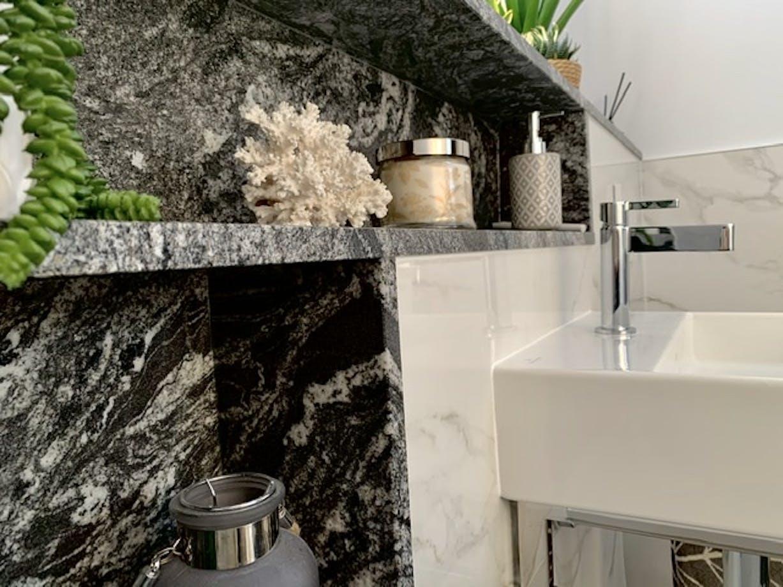 Sensa Black Beauty Bathroom Shelf Detail