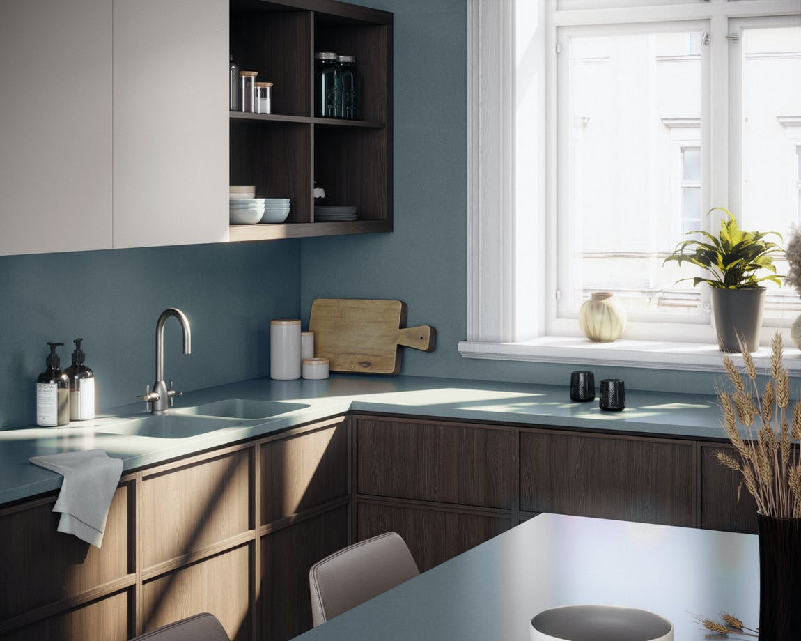 Silestone Kitchen 2 - Cala Blue