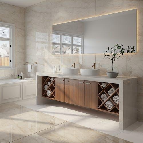Bathroom Flooring Using Different Cosentino Materials