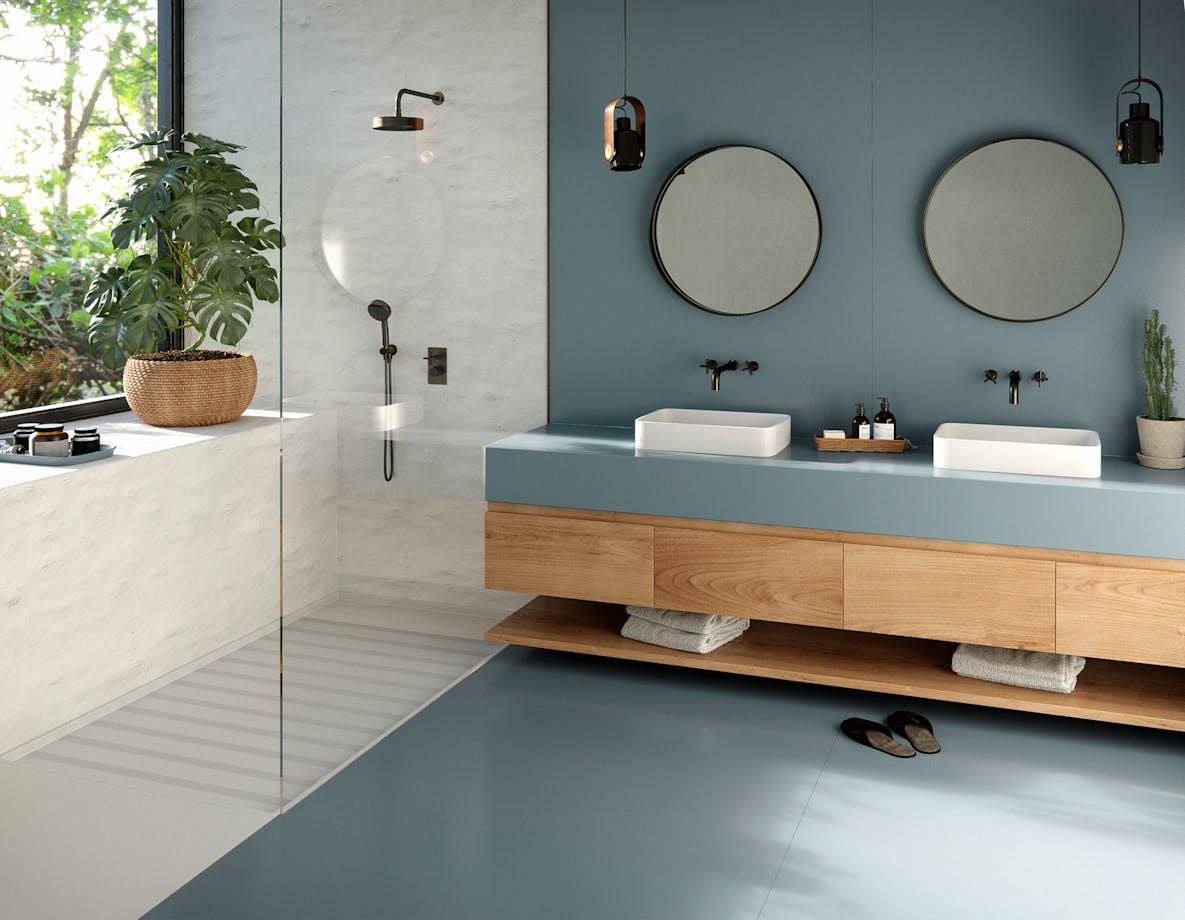 Silestone Bathroom - Cala Blue