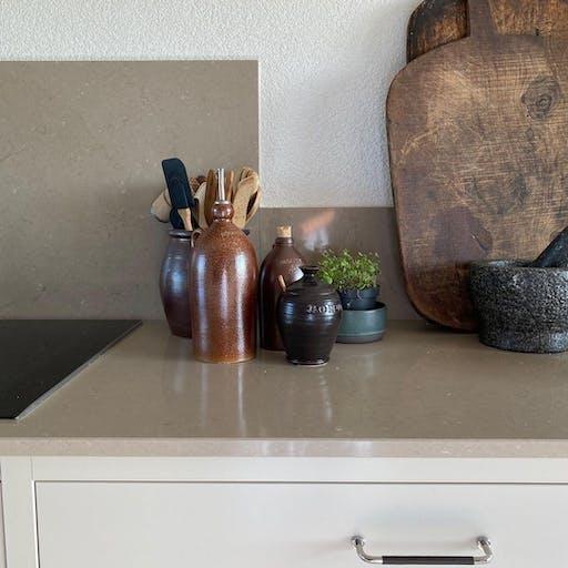 Silestone Coral Clay as worktops @skaanehus